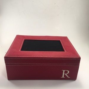 """Red Trinket Holder Box with Initial """"R""""!"""